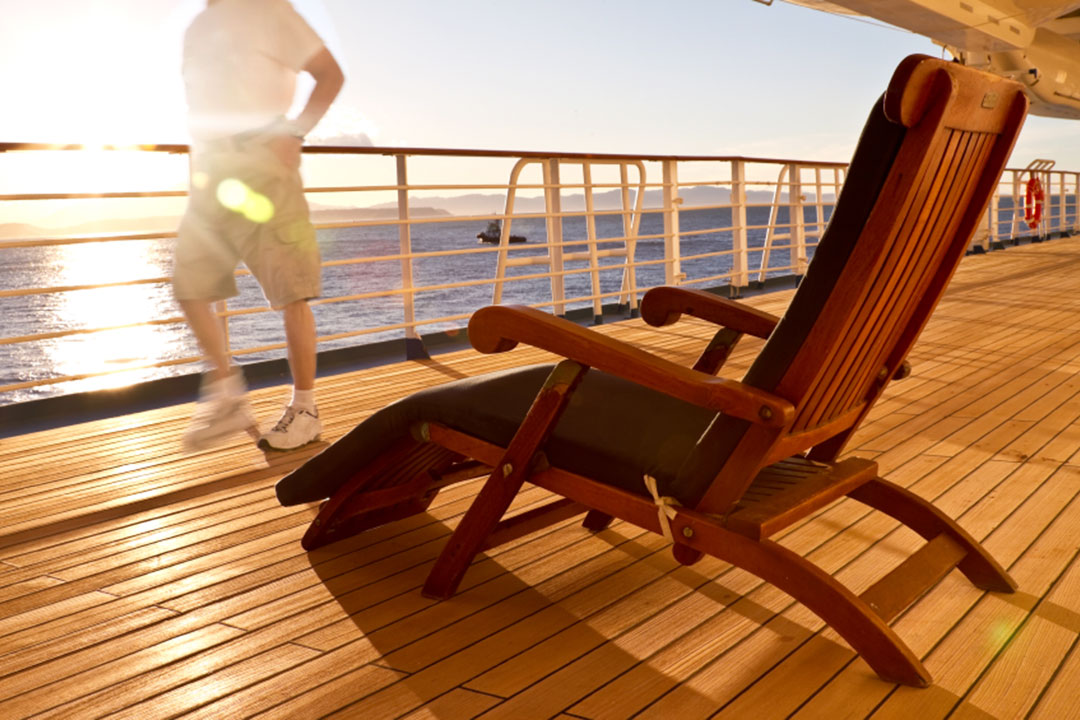 Stretch your legs on deck
